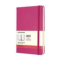 Ежедневник Moleskine 2021 Датированный Средний (13х21 см) 400 страниц Розовый (8056420850680), фото 1