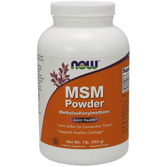 Метилсульфонілметан NOW MSM Powder 454 g