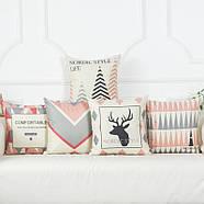 Декоративная подушка (наволочка) Коллекция Nordic Home #1, фото 3