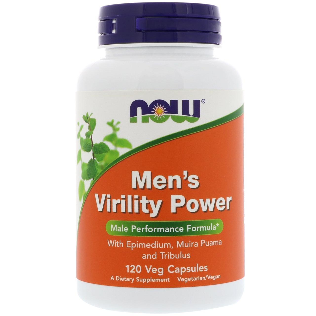 Увеличение выработки тестостерона NOW Men's Virility Power 60 veg caps