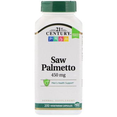 Со Пальметто 21st Century Saw Palmetto 450 mg 200 veg caps