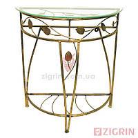 Кованый столик КЛАВДИЙ малый | Консоль стеклянная в прихожую
