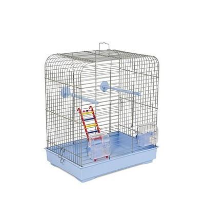 Клетка Белла белая/светло-голубая для декоративных птиц 37х25х36 см  Природа