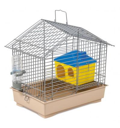 Клетка Джунгарик для хомячков хром бежевая 30х20х24 см Природа