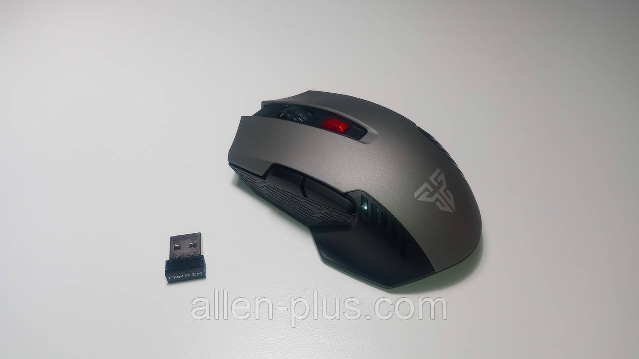 Ігрова миша бездротова FANTECH WG10 RAIGOR II (2000 DPI, Black/Gray, Wireless