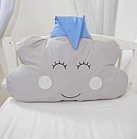 Бортик звірятко, дитяча декоративна подушка - хмаринка