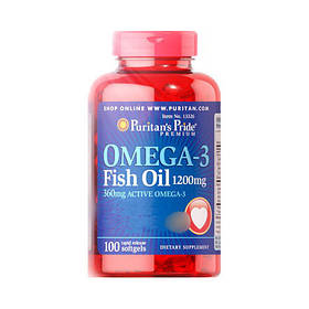 Рыбий жир Puritan's Pride Omega-3 Fish Oil 1200 mg (100 softgels)