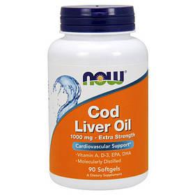 Масло печени трески NOW Cod Liver Oil 90 softgels
