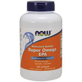 Рыбий жир (омега 3) NOW Super Omega EPA 120 softgels