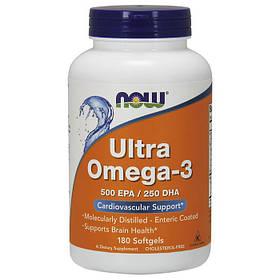 Рыбий жир (омега 3) NOW Ultra Omega-3 180 softgels