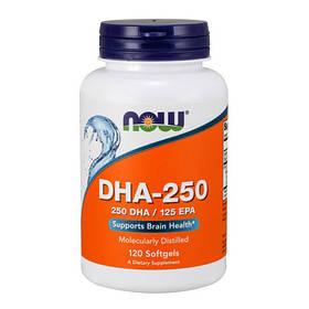 Концентрат рыбьего жира NOW DHA-250/125 EPA 120 softgels