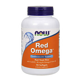 Омега жиры NOW Red Omega 90 softgels