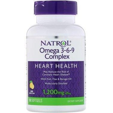 Омега 3 6 9 Natrol Omega 3-6-9 1200 mg 90 softgels корисні жирні кислоти