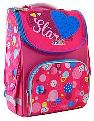Рюкзак шкільний каркасний Smart PG-11 Сolourful spots Рожевий (555900)
