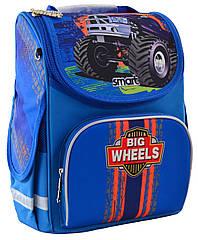 Рюкзак шкільний каркасний Smart PG-11 Big Wheels Синій (555971)