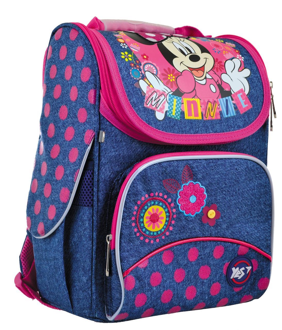 Рюкзак шкільний каркасний YES H-11 Minnie Синий (556140)