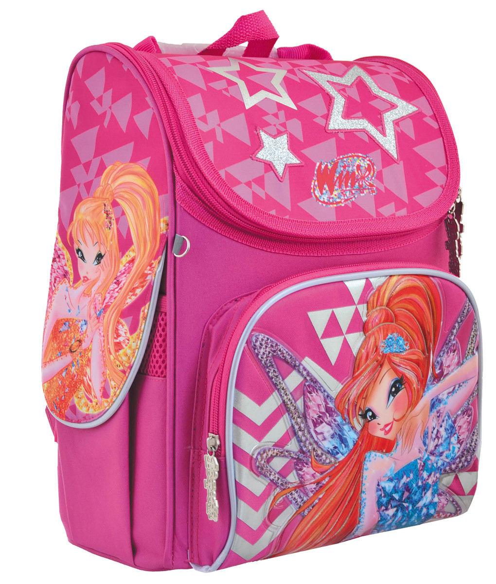 Рюкзак шкільний каркасний 1 Вересня H-11 Winx  Рожевий (556152)