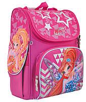 Рюкзак шкільний каркасний 1 Вересня H-11 Winx  Рожевий (556152), фото 1