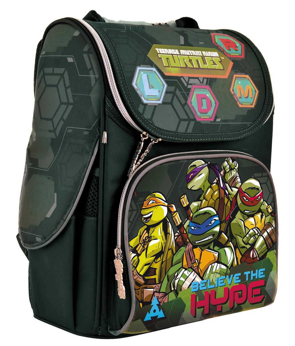 Рюкзак шкільний каркасний 1 Вересня H-11 Tmnt Зелений (556157)