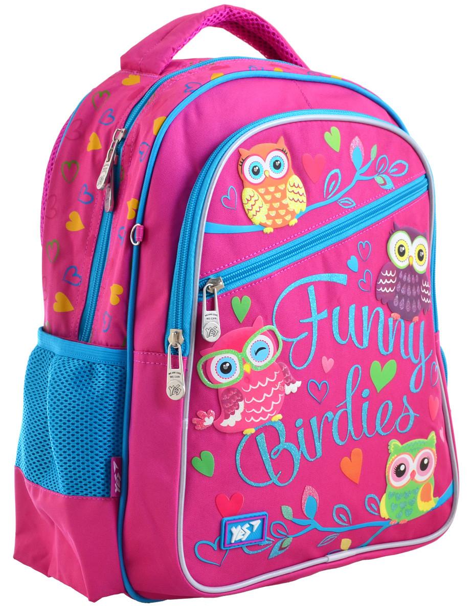 Рюкзак шкільний YES S-23 Funny Birdies Пурпурний (556245)