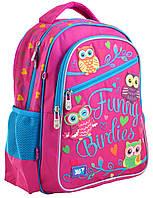 Рюкзак шкільний YES S-23 Funny Birdies Пурпурний (556245), фото 1