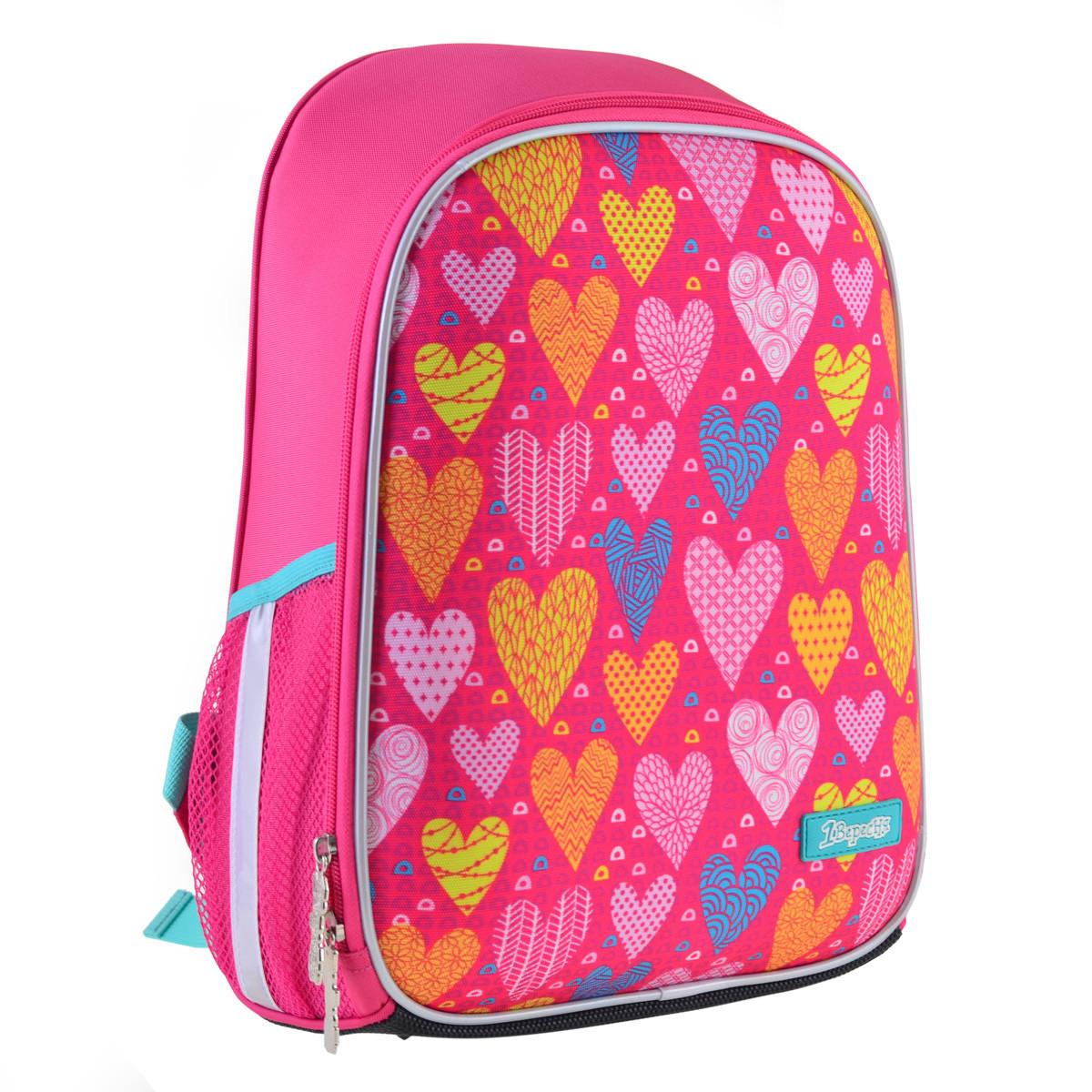 Рюкзак шкільний каркасний 1Вересня H-27 Sweet heart Рожевий (557709)