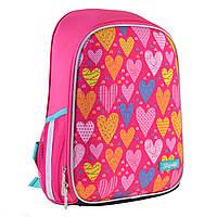 Рюкзак шкільний каркасний 1Вересня H-27 Sweet heart Рожевий (557709), фото 1