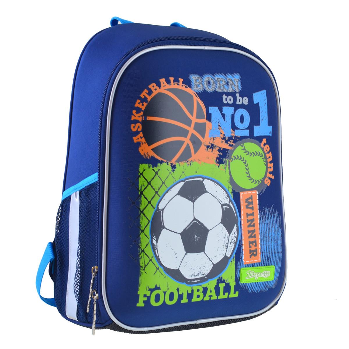 Рюкзак шкільний каркасний 1ВересняH-27 Football winner Синій (557713)