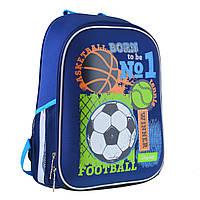 Рюкзак шкільний каркасний 1ВересняH-27 Football winner Синій (557713), фото 1