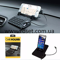 Автомобильный держатель для телефона/планшета Remax Car Holder со встроенной проводной подзарядкой, фото 1