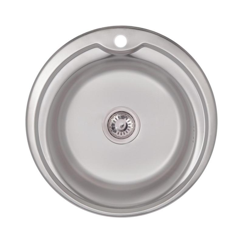 Кухонна мийка Lidz 510-D Satin 0,8 мм (LIDZ510DSAT)