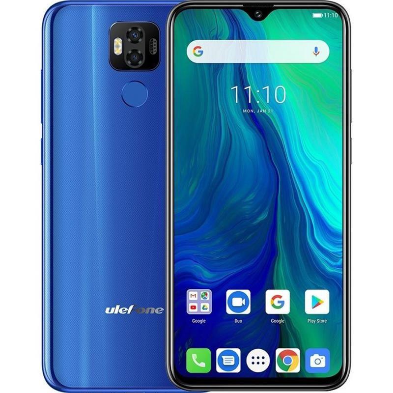 """Смартфон Ulefone Power 6 Dual Sim Blue (6937748733133); 6.3"""" (2340x1080) IPS / MediaTek Helio P35 / RAM 4 ГБ / 64 ГБ вбудованої + microSD до 256 ГБ /"""