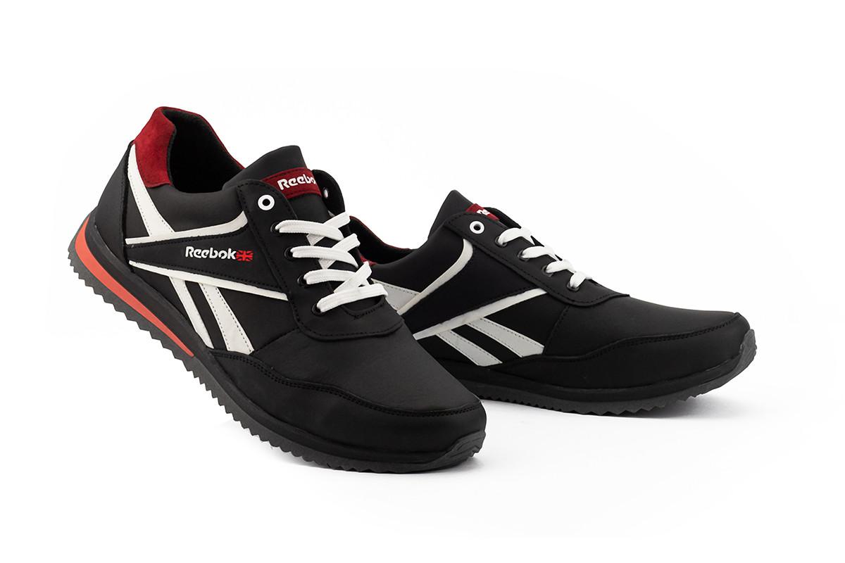 Мужские кроссовки кожаные весна/осень черные Anser 103 NS Black