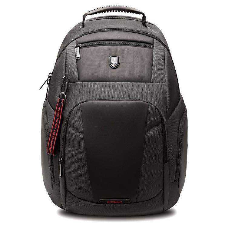 """Рюкзак для города и поездок Arctic Hunter для ноутбука 17.3"""" (B00341) Серый"""