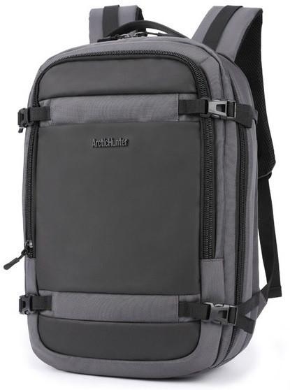 """Городской рюкзак Arctic Hunter для ноутбука 17.3"""" (B00188) Серый"""
