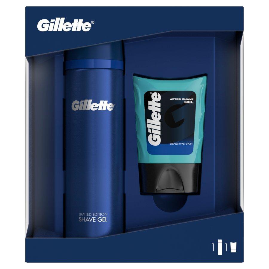 Подарочный набор Gillette (Гель для бритья 200мл + Гель после бритья 75мл)