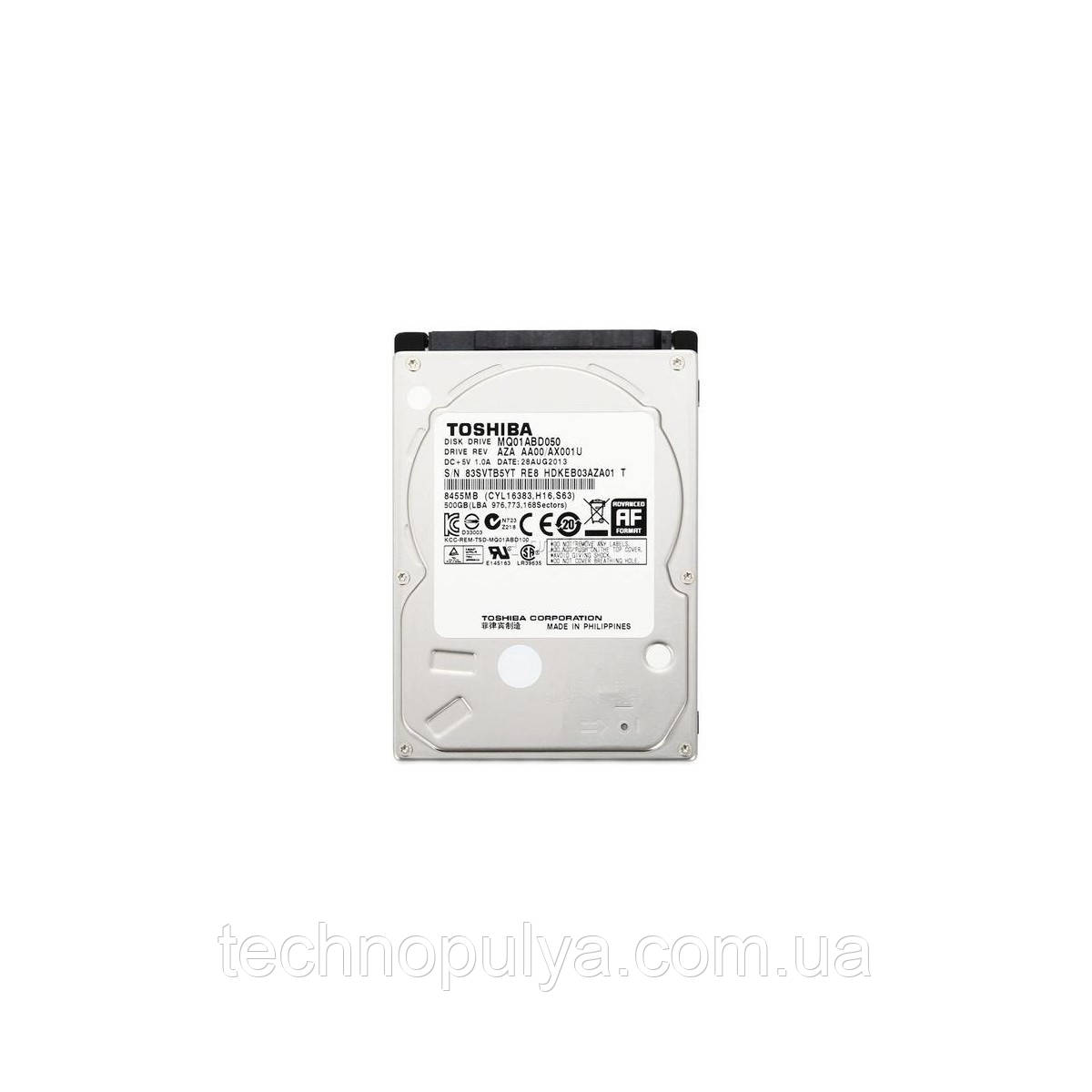 Жесткий диск Toshiba 500GB 5400rpm 8MB MQ01ABD050V 2.5 SATA II Refurbished (100170)