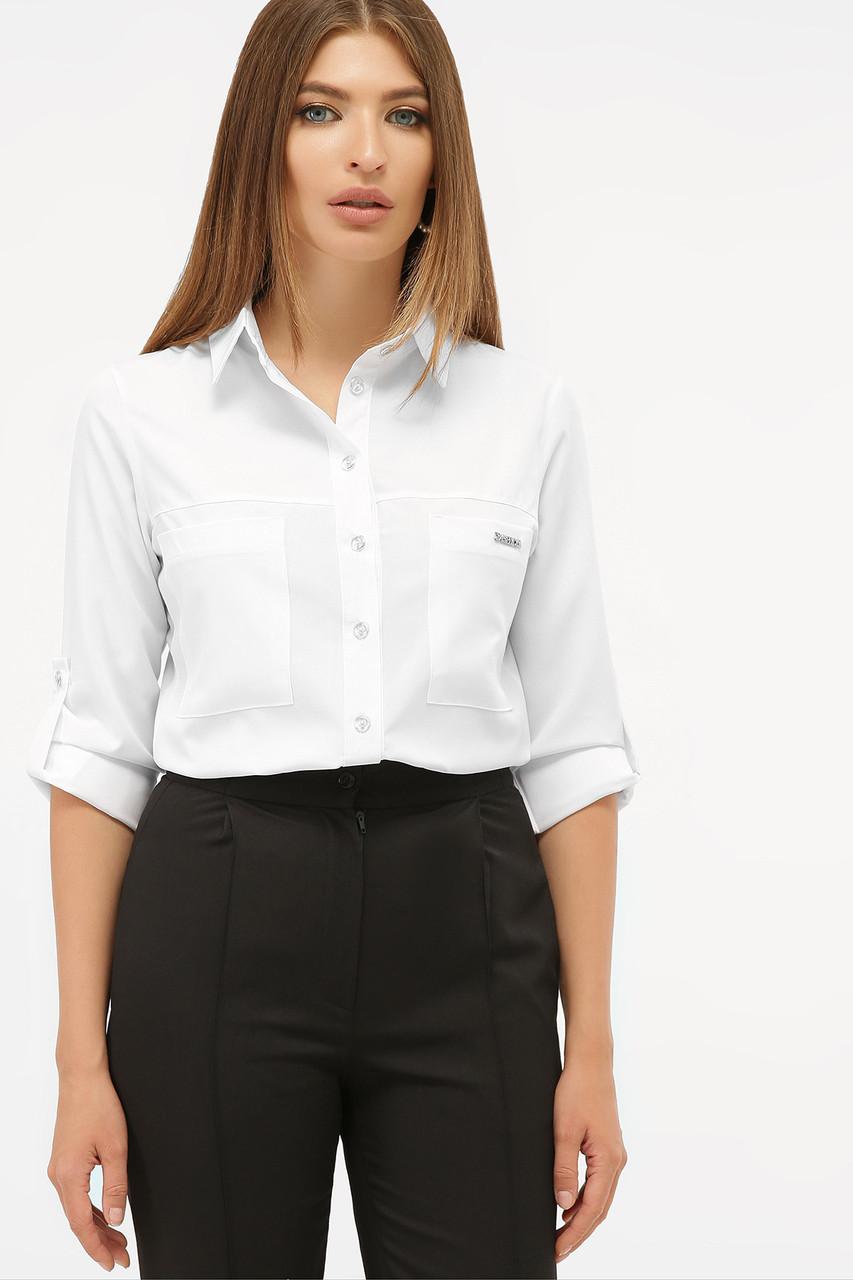 Стильная белая блуза Кери д/р