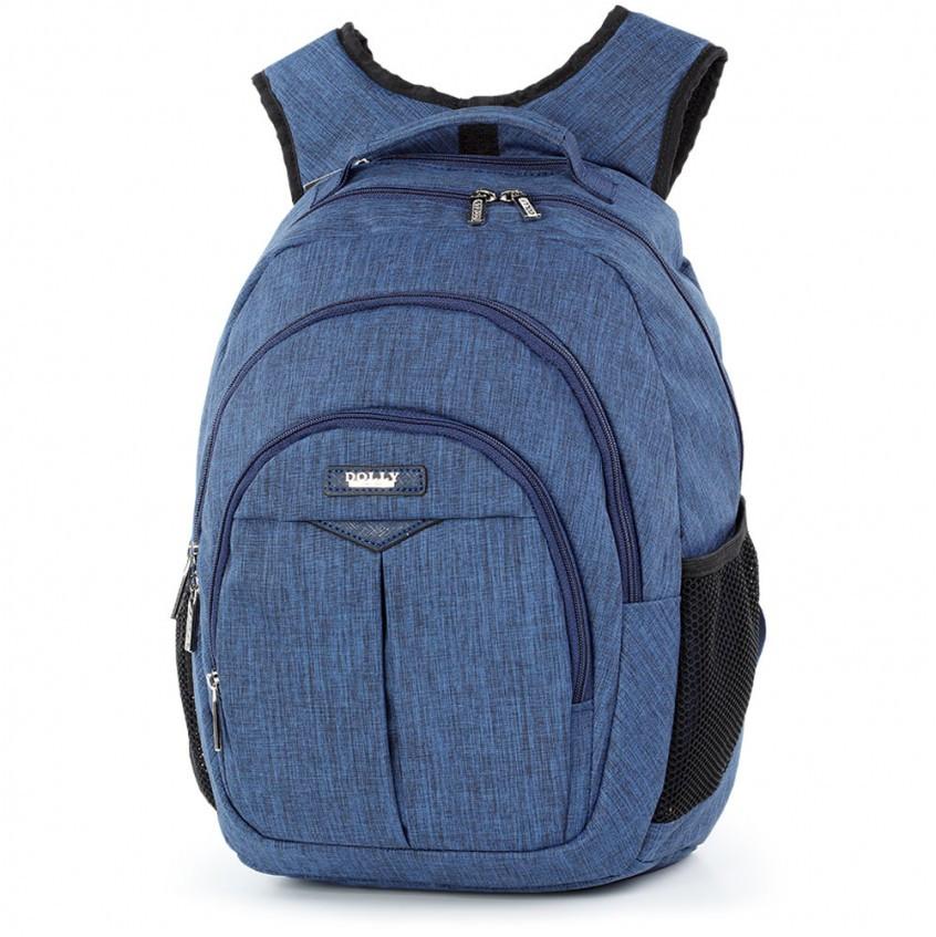 Рюкзак школьный Dolly-375 Темно-синий