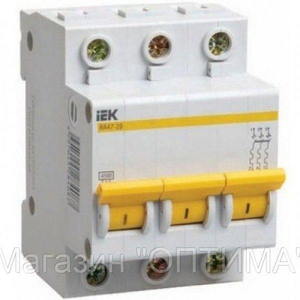 Автоматический выключатель ИEK BA47-29 3P/25A С