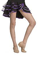 Юбка для бальных танцев Dance&Sport N 089 черная с фиолетовым, масло