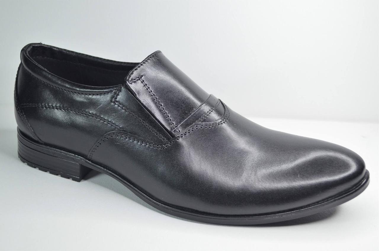 Мужские кожаные туфли черные Ava 42