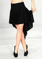 Юбка для бальных танцев Dance&Sport L088 черная, масло-ткань L