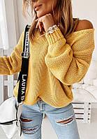 """Базовый женский свитер с вырезом однотонный """"Sola"""""""