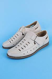 Туфли подростковые мальчик светло-серые Calorie 122303P