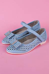 Туфли подростоковые девочка голубые Calorie 122288P
