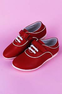 Туфли подростоковые девочка красные Calorie 122280P
