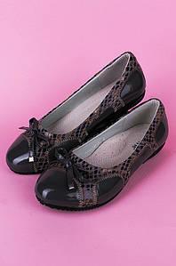 Туфли подростоковые девочка серые Calorie 122283P