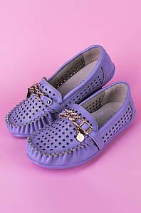 Туфли подростоковые девочка сиреневые Calorie 122291P