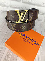 Кожаный ремень в стиле Louis Vuitton (Луи Витон) ЛВ, фото 1